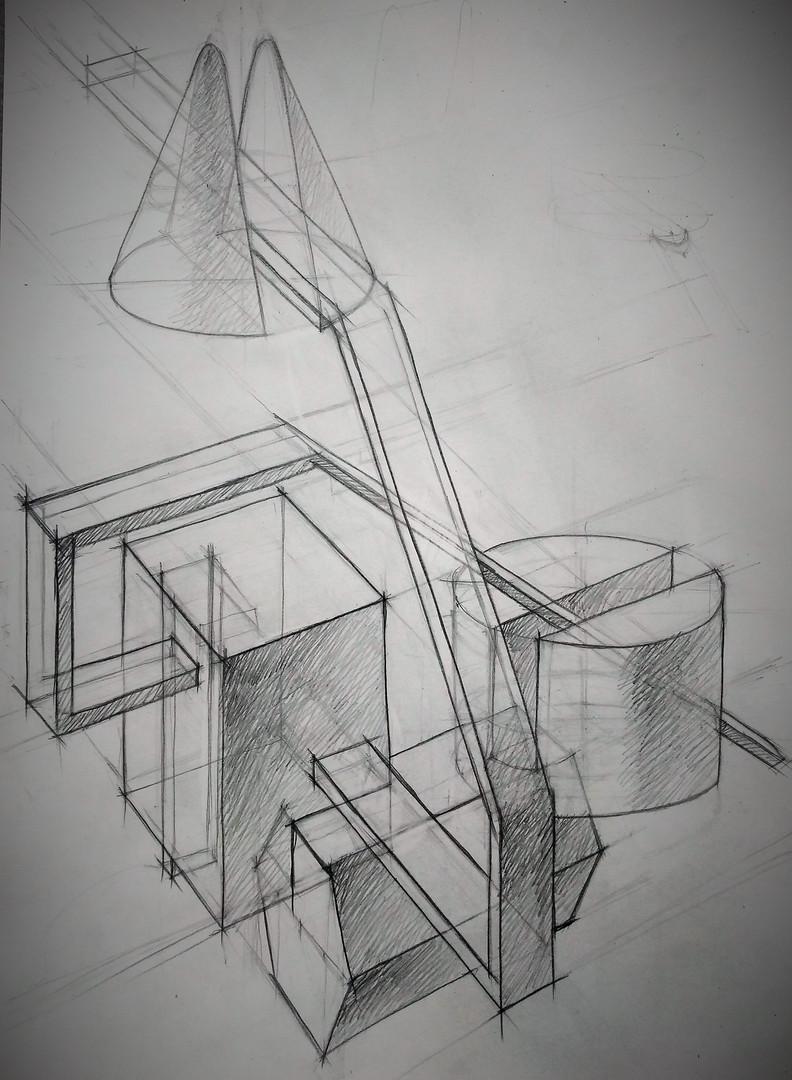 Линейно-конструктивный рисунок. Композиция_7..jpg