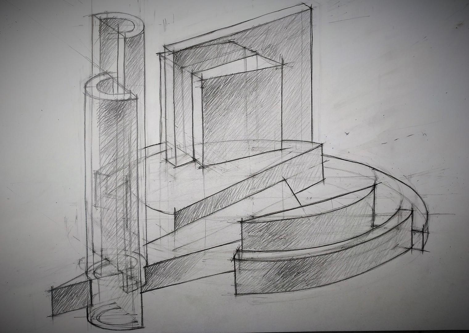 Линейно-конструктивный рисунок. Композиция_5..jpg