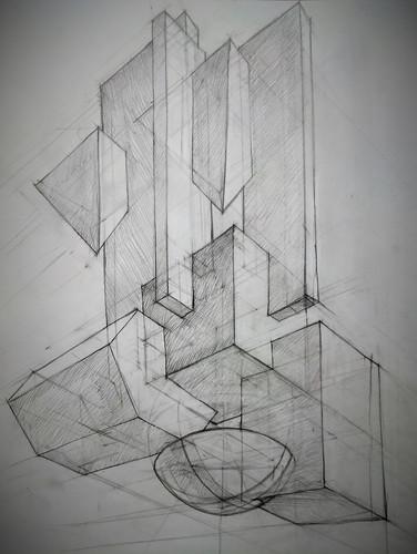 Линейно-конструктивный рисунок. Композиция_8..jpg