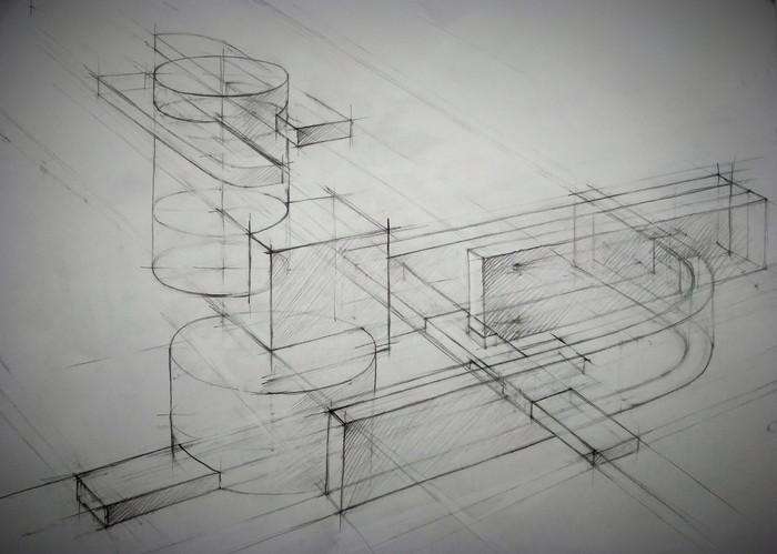 Линейно-конструктивный рисунок. Композиция_3..jpg