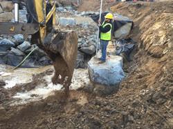 Imbricated Wall - Upstream