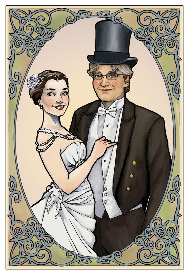 Callie & Ashton's wedding portrait