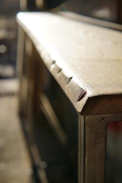 Console metal bois