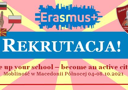 Erasmus + Pierwsza mobilność w Macedonii Północnej! [REKRUTACJA]