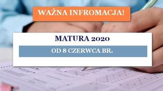 Pisemne egzaminy maturalne od 8 czerwca br. Egzaminy ustne - odwołane