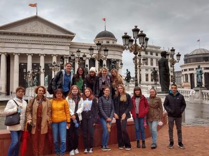 Uczestnicy wymiany polsko-macedońsko-bułgarsko-włoskiej w Skopje! Erasmus +