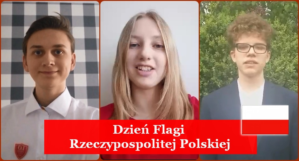 Dzień Flagi Rzeczypospolitej Polskiej. Uczniowie składają życzenia