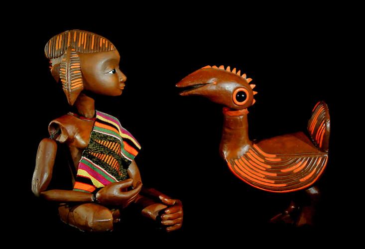 Tanzanienne et oiseau