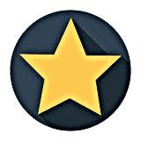 star-icon-long-shadow-flat-design-vector