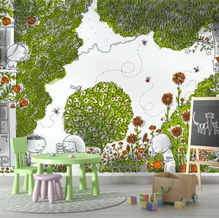 Dans le jardin (Barroux) - réf : BR-03