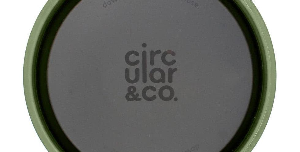 CIRCULAR & Co Tasse à café réutilisable noire et jaune