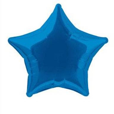 "Balloon Foil 18"" Star Royal Blue"