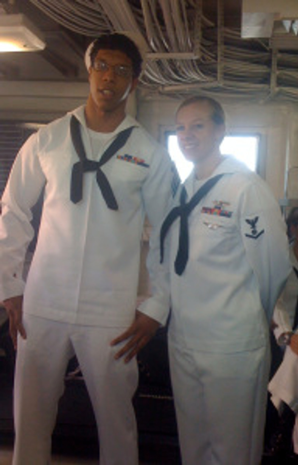 Maurice & Jaime  - on board the USS Reagan