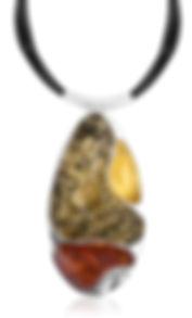 Silver Citrine Yellow Orange Black cord.