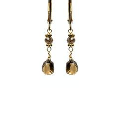 Brown Diamond Briolettes Short Drop