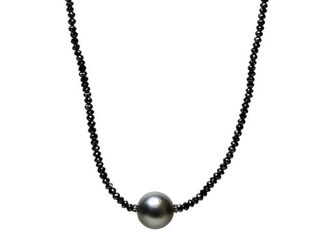 Black Diamonds & Grey South Sea Pearl Center