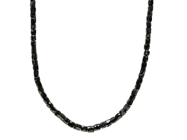 Black Faceted Diamond Tubes