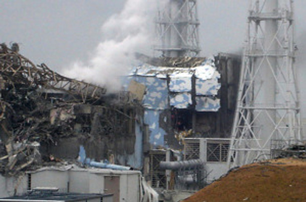 TEPCO Pix - Fukushima Reactors 3 - left -  & 4 which exploded 3-15-11