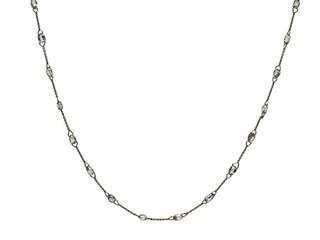 White Diamond Briolette Scatter Necklace