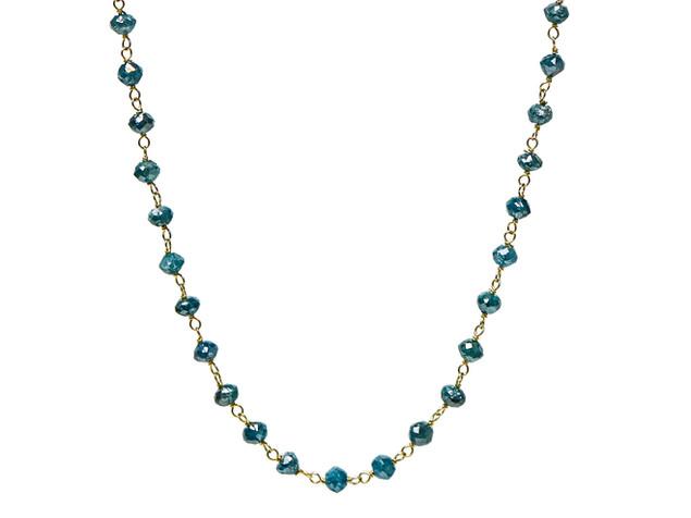 Blue Round Diamonds