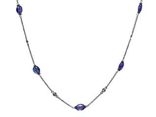 Diamond Bezel & Tanzanite Necklace