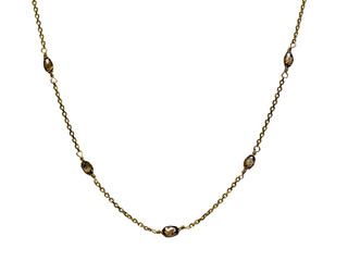 Brown Diamond Briolette Scatter Necklace