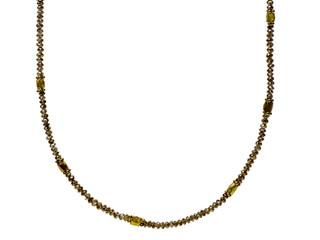 Brown Round & Yellow Oval Diamonds