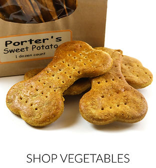 Premium Organic Vegetable Dog Treats made in the USA