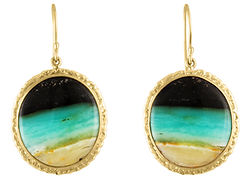 Designer Earrings Circles Green Seafoam