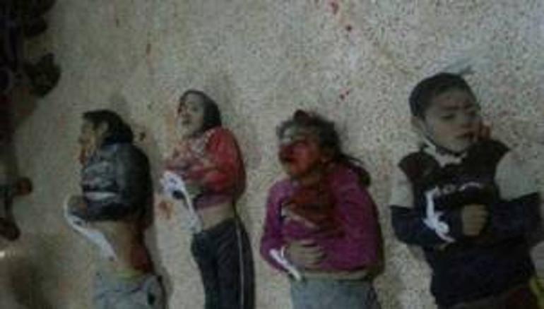 Syrian barrel bomb's little victims