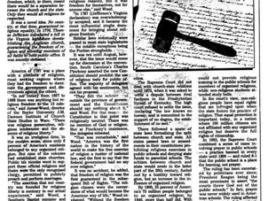 Religious Freedom in the Constitution