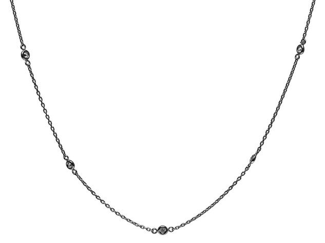 Diamond Bezel Scatter Necklace