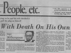 He Met With Death on His Own Terms