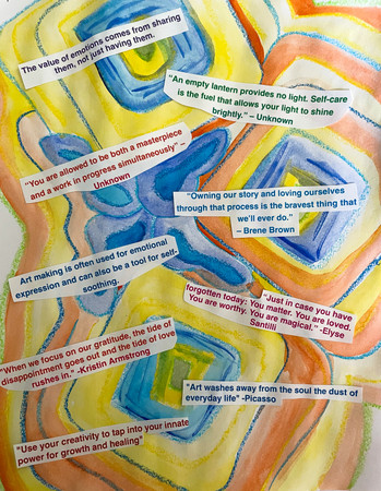 Here and Now Art Activity: Positive Affirmations for a Better Outlook on Life