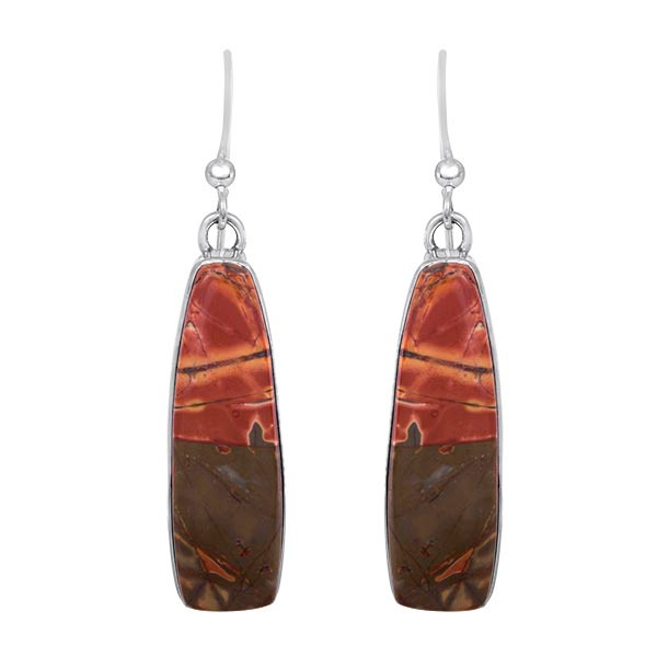 Jasper and Sterling Silver earrings