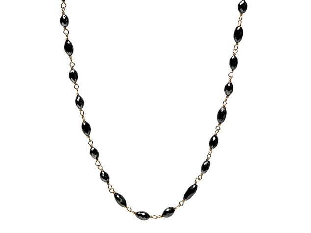 Black Oval Diamonds
