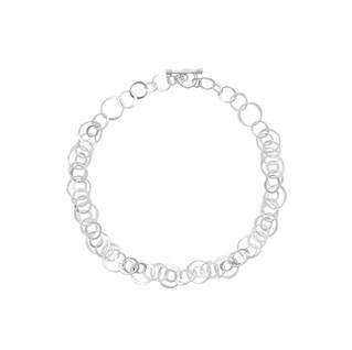 Handmade Sterling Silver hammered link necklace