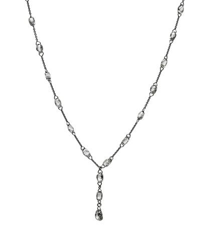 White Diamond Biolette Y Necklace
