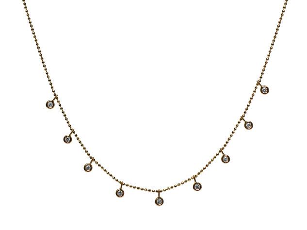 Diamond Bezel Drop Necklace
