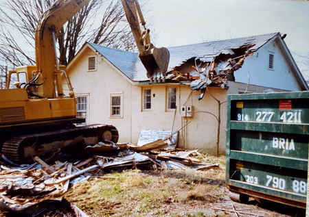 Demolition time! We tour down the building to make space for our new home.