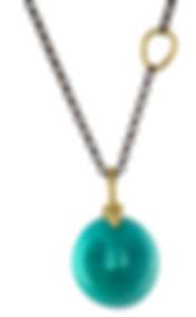 Gold Black Chain Green Face Stone.jpg