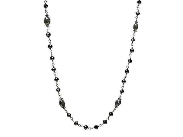 Black Round & Dark Grey Oval Diamonds