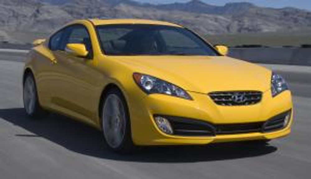 10 Hyundai Genesis Coupe - front