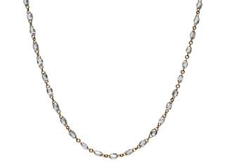 White Diamond Briolette Rosary Necklace