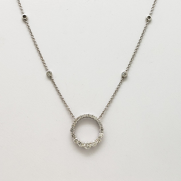 White Gold & Diamond Necklace