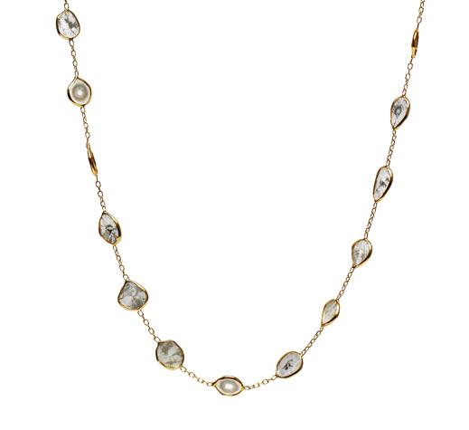 Diamond Slice Scatter Necklace