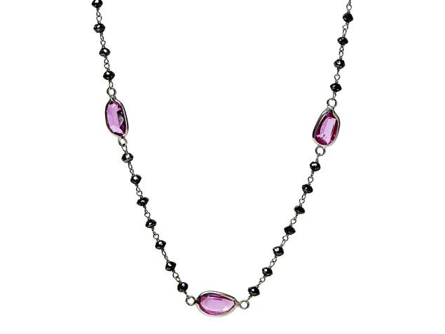 Black Diamonds & Pink Tourmaline