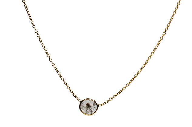 Single Diamond Slice Necklace