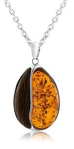 Silver Citrine Oval Chain Brown Orange.j
