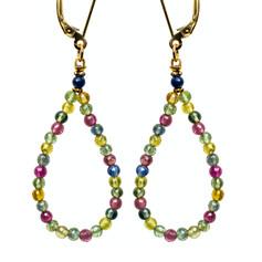Multi-Color Sapphire Bead Hoop